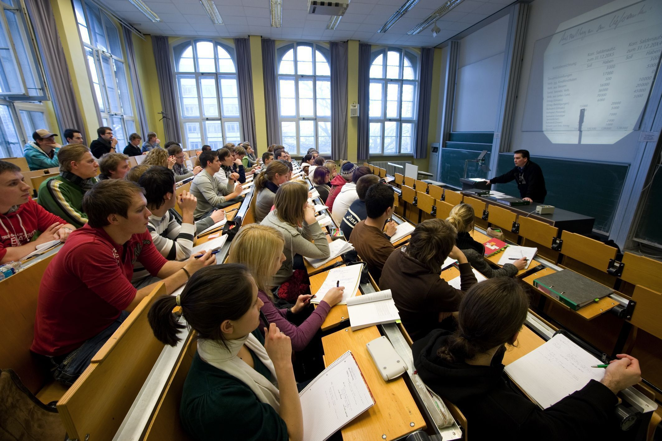 Lecture room with students