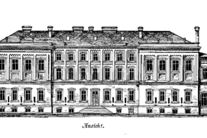 Drawing of the main building